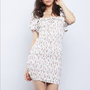 Floral Puff Sleeves Dress